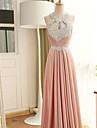 Coloană / Teacă Halter Lungime Podea Satin Stretch Seară Formală Rochie cu Mărgele Detalii Cristal Paiete de TS Couture®