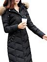 Femei Palton Femei Casual / Plus Size Hanorac Manșon Lung Pană