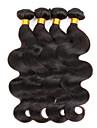 Brasilianskt hår Obehandlat Obehandlad hår Kroppsvågor Hårförlängning av äkta hår 3 delar Heta Försäljning Human Hår vävar
