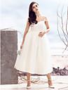 Linia -A Regina Anne Lungime Tea Tulle Rochie de mireasă cu Cruce de LAN TING BRIDE®