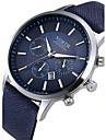 Bărbați Ceas Elegant Ceas La Modă Ceas de Mână Quartz Calendar Piele Bandă Negru Alb Albastru