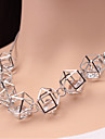 Dame Coliere Choker Coliere Cristal Ștras imitație de diamant Aliaj La modă bijuterii de lux Negru Argintiu Auriu BijuteriiNuntă