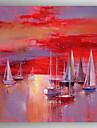 Peinture a l\'huile Hang-peint Peint a la main - Paysage Moderne Toile