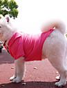 Hund T-shirt Hundkläder Enfärgad Vit Svart Grå Ros Cotton Kostym För husdjur Herr Dam Ledigt/vardag