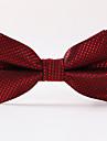masculin de partid / seara de nunta formală de vin roșu carouri poliester cravată de cravată