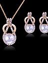 Dame Seturi de bijuterii Draguț Petrecere Modă Petrecere Ocazie specială Zi de Naștere Perle Imitație de Perle Ștras Placat Cu Aur Roz