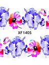 1 Autocollant de transfert d\'eau Bijoux a ongles Autocollants 3D pour ongles Ruban a decaper Fleur Mode Quotidien Haute qualite