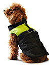 Dog Coat Vest Puffer / Down Jacket Dog Clothes Color Block Yellow Red Black/Pink Black/Green Black/Blue Cotton Costume For Pets Winter