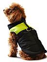 Câine Haine Γιλέκο Jachete cu Puf Îmbrăcăminte Câini Iarnă Cald Casul/Zilnic Keep Warm Bloc Culoare Galben Rosu Negru/Roz Negru/Verde
