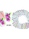 50 Vattenövergångsklistermärke 3D Nail Stickers Blomma Mode Dagligen Hög kvalitet