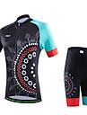 cheji® Cykeltröja med shorts Dam Kortärmad Cykel Klädesset Vinter Cykelkläder Snabb tork UV-Resistent Andningsfunktion Mjuk