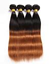 Brasilianskt hår Rak Hårförlängning av äkta hår 3 delar Heta Försäljning 0.15