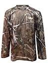 Jakt-T-shirt med kamouflagemönster Herr Snabb tork Vindtät Fuktgenomtränglighet Hög andningsförmåga (>15,001g) Andningsfunktion Len
