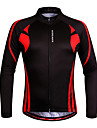 WOSAWE Maillot de Cyclisme Femme Unisexe Manches Longues Velo Shirt Maillot Hauts/Top Sechage rapide Design Anatomique Permeabilite a