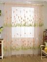 Hyls-topp En panel Fönster Behandling Land, Jacquard Vardagsrum Polyester Material Skira Gardiner Shades Hem-dekoration