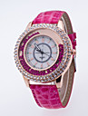 Жен. Наручные часы Diamond Watch Кварцевый Стеганная ПУ кожа Черный / Белый / Синий Повседневные часы / Аналоговый Дамы На каждый день Мода - Розовый Красный Зеленый