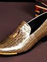 Bărbați Pantofi Piele Primăvară Vară Toamnă Iarnă Confortabili Mocasini & Balerini Carouri Pentru Nuntă Party & Seară Auriu