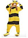 Kigurumi-pyjamas Bi Onesie-pyjamas Kostym Polär Ull Gul Cosplay För Vuxna Pyjamas med djur Tecknad serie halloween Festival / högtid