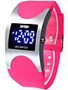 Per donna Orologio sportivo Digitale Silicone Nero / Blu / Rose 30 m Con LED Digitale Donne Lusso Di tendenza - Nero Rosso Blu