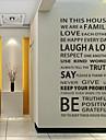 מדבקות קיר דקורטיביות - מילים & ציטוטים מדבקות קיר Words & Quotes סלון / חדר שינה / חדר אוכל / ניתן להסרה