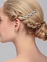 Femei Ștras Diadema-Nuntă Ocazie specială Informal Birou & carieră Exterior Piepteni de Păr 1 Bucată