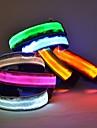 Câine Gulere Lumini LED Ajustabile / Retractabil Nailon Rosu Verde Albastru Roz Culoare aleatorie