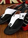 Bărbați Pantofi Piele Primăvară / Vară Confortabili Papuci & Flip-flops Negru / Portocaliu / Galben