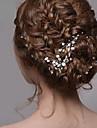 Perle Veșminte de cap Clip de păr Pini de păr Hair Stick with Floral 1 buc Nuntă Ocazie specială Diadema