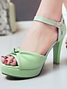 Damă Pantofi Imitație de Piele Vară Toc Stiletto Platformă Pentru Rochie Party & Seară Alb Negru Verde Albastru Roz