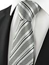 Cravată(Gri / Argintiu,Poliester)Dungi