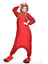 Adulto Pijamas Kigurumi Monster Cookie Anime Pijamas de una pieza Lana Polar Rojo Cosplay por Hombre y mujer Ropa de Noche de los Animales Dibujos animados Festival / Celebracion Disfraces