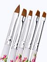 1uppsättning 5st akryl uv gel nagel konst designs in liner målning utspridda pensel penna byggare för akryl