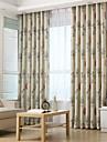 Stångficka Hyls-topp Hällor topp Dubbel veckad Två paneler Fönster Behandling Moderna Europeisk Medelhavet Nyklassisistisk Land, Tryck &