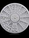 1roue blanc perles ongle decorations-Bijoux pour ongles-Doigt- enAdorable-6cm roue