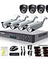 Liview® - övervakningskamera för utomhusbruk till dag och natt med åtta kanaler, 700TVL, HDMI 960H nätverk DVR-system