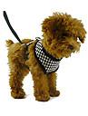 Câini Hamuri / Lese Ajustabile/Retractabil Roșu / Negru Textil