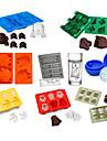 8pcs / set tavă de gheață mucegai silicon pentru cuburi de gheață factorii de decizie de înghețată de ciocolată fondantă
