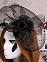 floare de pene de bijuterii voal fascinator pălărie de păr pentru petrecerea de nunta