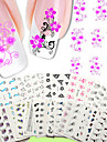 nail art water transfer stickers 50 different sheets set flower design nail sticker nude packing