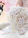 Flori de Nuntă Rotund Trandafiri Buchete Nuntă Petrecere / Seară Poliester Satin Dantelă Mărgea Spumă Metal Cristal Ștras