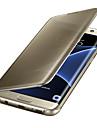 Capinha Para Samsung Galaxy Galaxy S10 / Galaxy S10 Plus / Galaxy S10 E Hibernacao / Ligar Automatico / Galvanizado / Espelho Capa Protecao Completa Solido Rigida PC para S9 / S9 Plus / S8 Plus