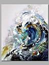 Pictat manual Abstract / Peisaj / Peisaje Abstracte Stil European Un Panou Canava Hang-pictate pictură în ulei For Pagina de decorare