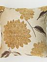 Chenille / Poliester Față de pernă,Floral Tradițional