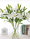 פרחים מלאכותיים 1 ענף סגנון מינימליסטי חבצלות פרחים לשולחן