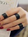 3pcs Žene Band Ring - Srebrna Ljubav dame, Personalized Jewelry Crn Za Vjenčanje Party Dar Dnevno Kauzalni Univerzalna veličina