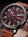 Bărbați Ceas de Mână Quartz Calendar Piele Bandă Casual Negru