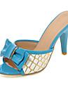 Pantofi pentru femei-PU-Toc Stiletto-Tocuri / Decupați-Sandale / Pantofi cu Toc / Saboți & Mules-Outdoor / Rochie / Casual-Albastru / Roz
