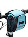 ROSWHEEL Cykelväska 1.8L Väska till cykelstyret Fuktighetsskyddad Vattentät dragkedja Bärbar Stötsäker Cykelväska PU läder Duk 400D Nylon