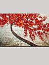 întins (gata să stea) pictate manual pictura ulei roșu peisaj floare de cireș copac de artă perete viață