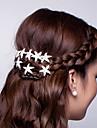 Quente prato cabelo flor em forma de u abracadeira starfish cabelo cabelo clasp diamante tiara 10pcs